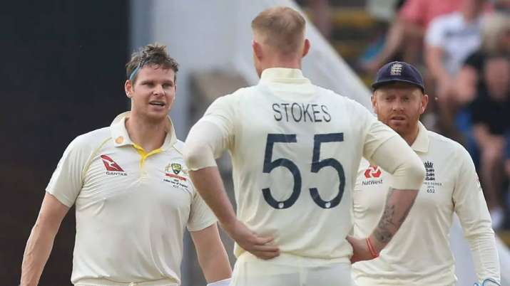 Steve Smith and Ben Stokes during last Ashes