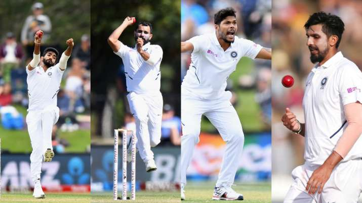Indian pace trio of Jasprit Bumrah, Ishant Sharma and