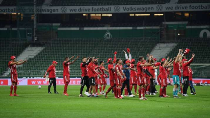 Bayern Munich after their eighth consecutive league title