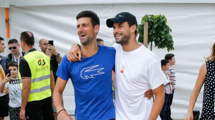 Novak Djokovic and Grigor Dimitrov