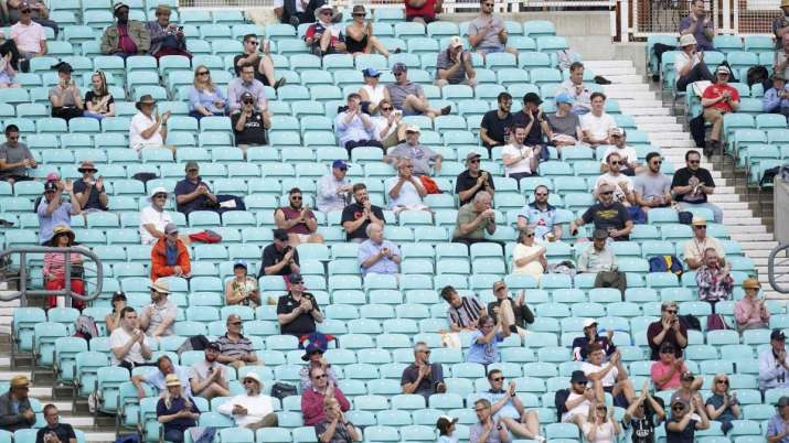 A cricket match in London between Surrey and Middlesex at