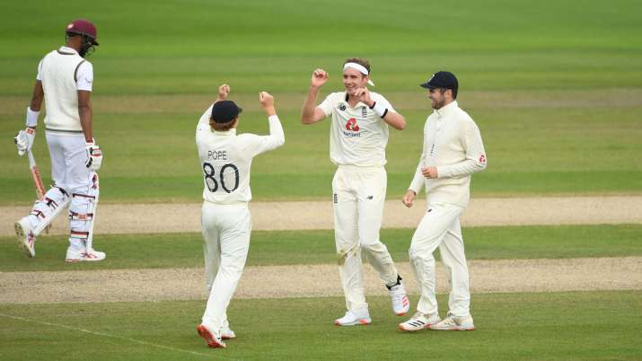 Stuart Broad filled in as England's all-action allrounder