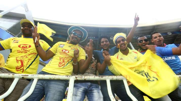 Fans are seen prior to the Indian Premier League IPL