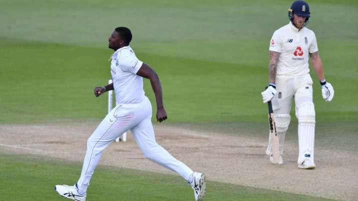 West Indies captain Jason Holder celebrates dismissing