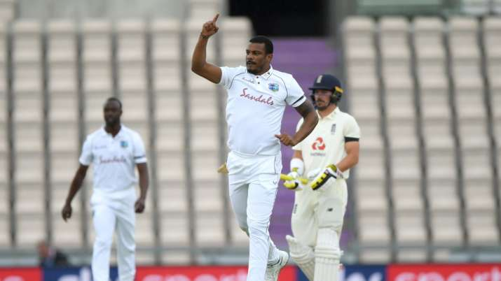 England vs West Indies: Shannon Gabriel outfoxes Dominic Sibley with a jaffa as international cricke