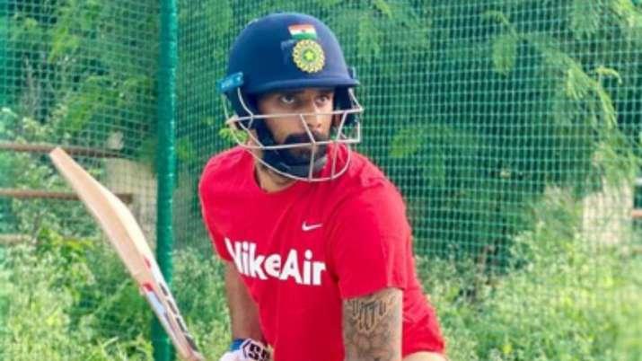 Test specialist Hanuma Vihari hits the nets