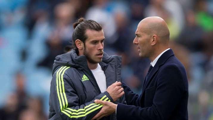Gareth Bale andReal Madrid manager Zinedine Zidane