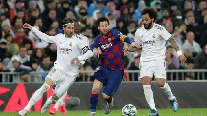 Lionel Messi during an Clasico match in 2019/20 season