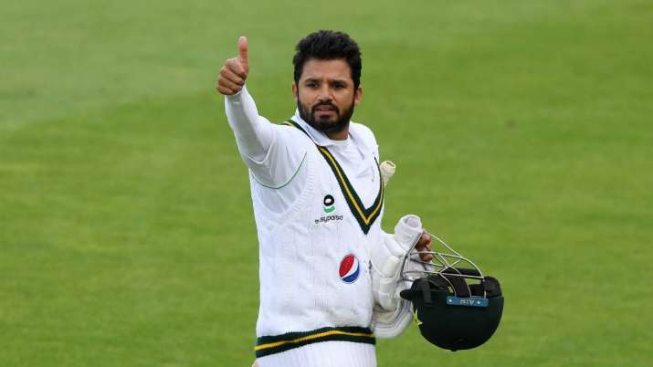 Azhar Ali of Pakistan walks off at tea during Day Three of