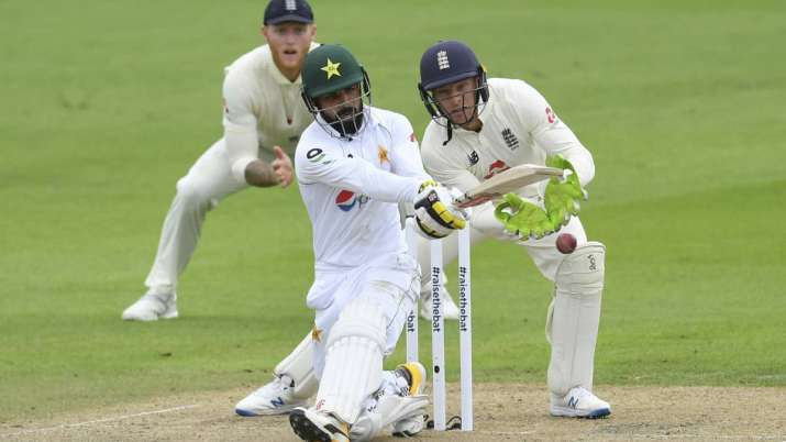Shadab Khan during first Test against England
