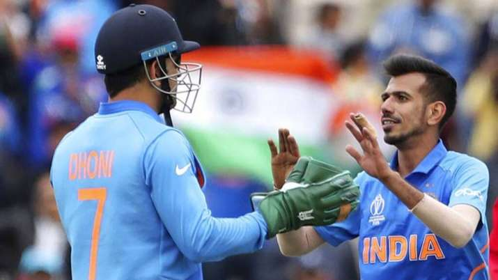 Yuzvendra Chahal and MS Dhoni