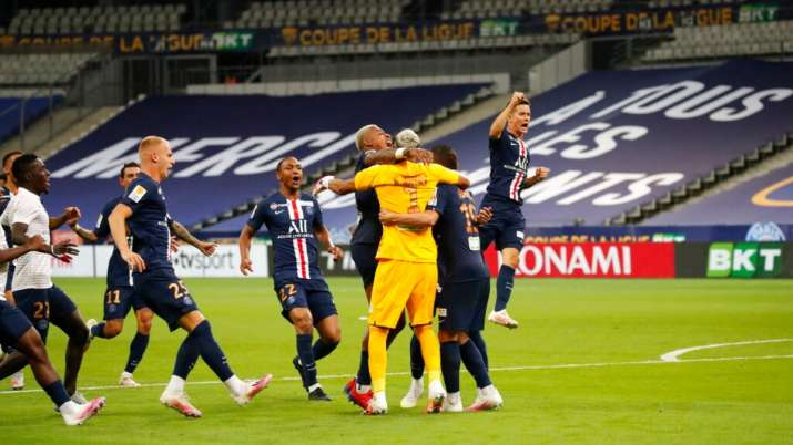 PSG secured a domestic treble after winning the League Cup,