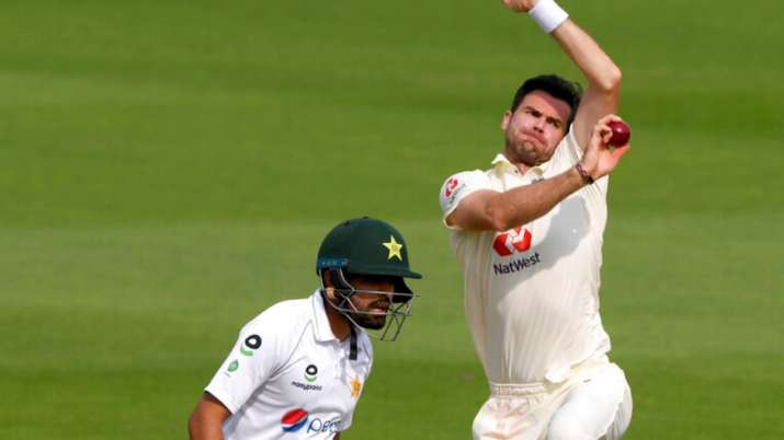 England paceman Jimmy Anderson was stranded on 599 wickets
