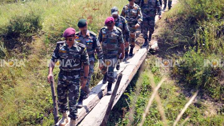MS Dhoni during his stint with the territorial army last
