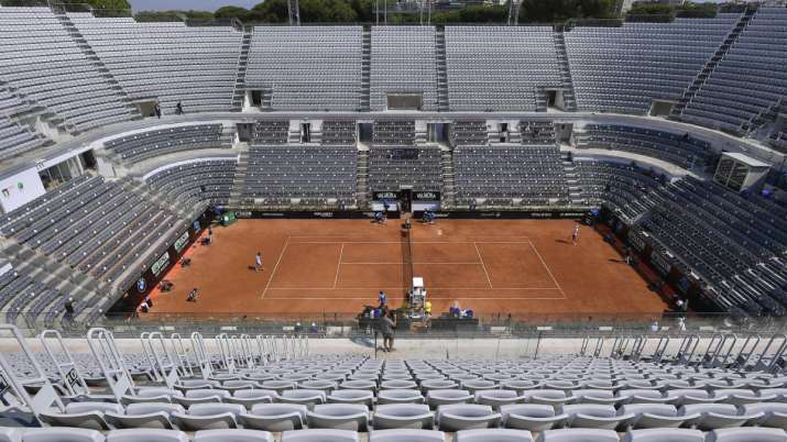The stands around the Central Court of the Foro Italico are