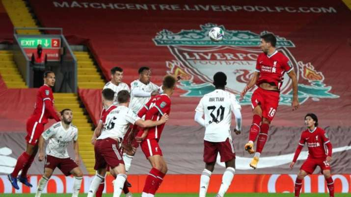 Liverpool in action against Arsenal