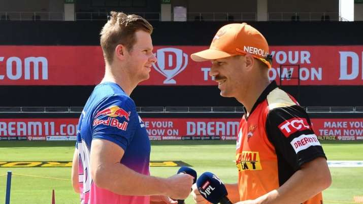 david warner steve smith rr vs srh
