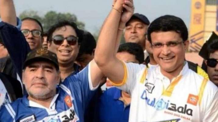 Sourav Ganguly and Diego Maradona
