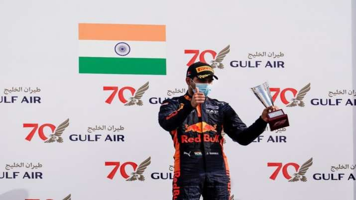 Daruvala posted a lap time of 1:42.782 seconds to go