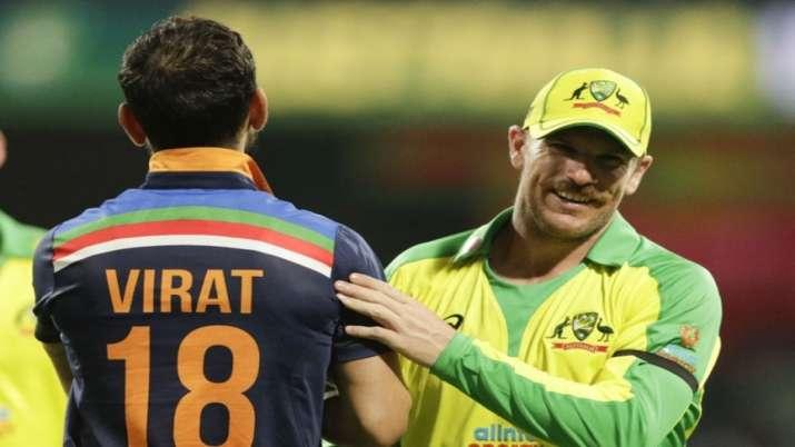 Virat Kohli and Aaron Finch