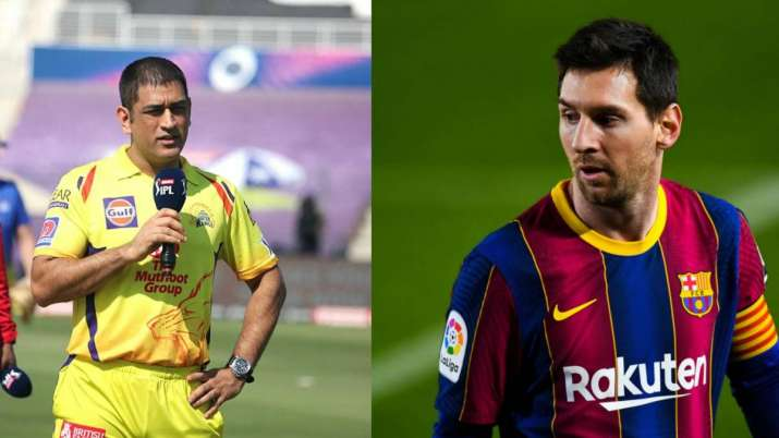 MS Dhoni and Lionel Messi