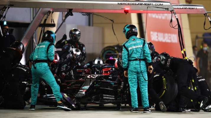 F1: Mercedes fined for George Russell tyre mix-up during Sakhir GP