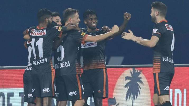 Goa were reduced to 10 men in the second half after Ivan
