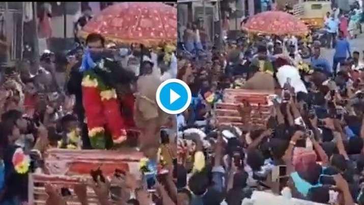 T Natarajan's return to his village