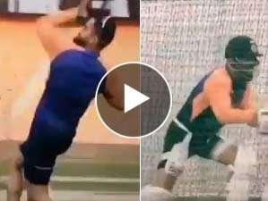 Virat Kohli in the nets
