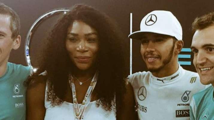 Serena Williams with Lewis Hamilton
