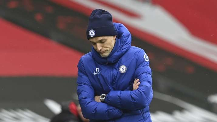 Chelsea's head coach Thomas Tuchel reacts during the