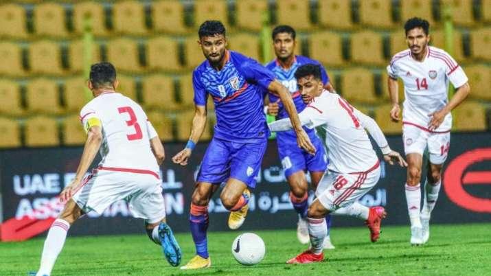 भारतीय फुटबॉल टीम, भारत बनाम यूएई