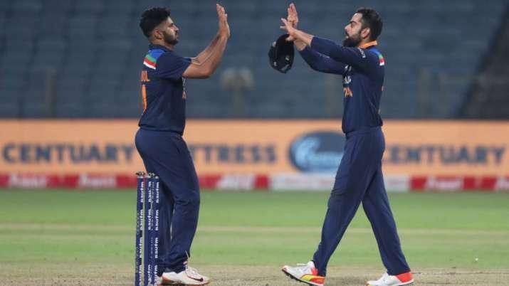 Virat Kohli and Shardul Thakur, IND vs ENG, India vs England 3rd ODi