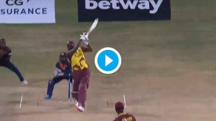 WI vs SL: Kieron Pollard smashes six sixes in an over; becomes second after Yuvraj to reach feat in