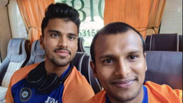 T Natarajan with Washington Sundar