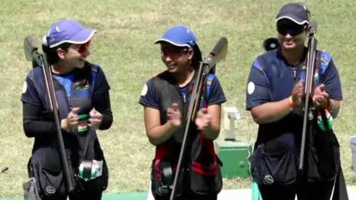 Shreyasi Singh, Rajeshwari Kumari, Manisha Keer, issf world cup