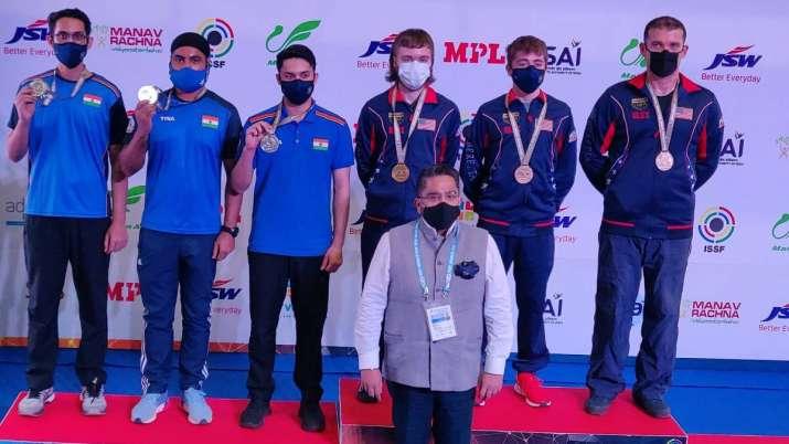 Adarsh Singh, Gurpreet Singh, Vijayveer Sidhu, issf world cup