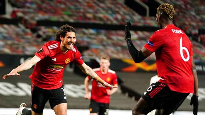Europa League semifinals: Man Utd beat Roma 6-2 as Edinson Cavani, Bruno Fernandes score brace