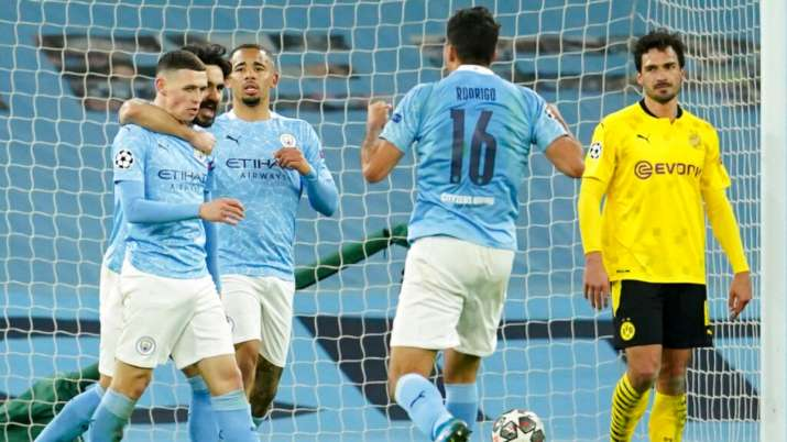 Champions League Q/Fs: Phil Foden nets 90th minute winner in Man City's 2-1 victory over Dortmund