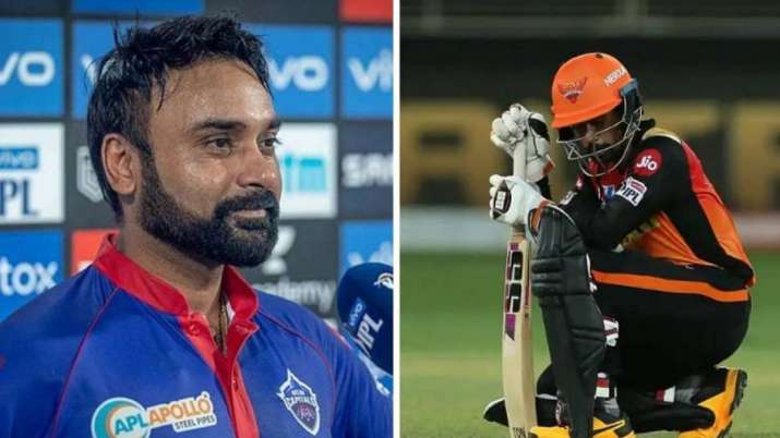 File photos of Delhi Capitals' Amit Mishra (left) with SRH's Wriddhiman Saha. Image Source : IPLT20.COM
