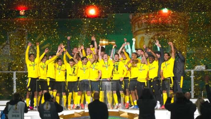 Erling Haaland, Jadon Sancho score twice as Borussia Dortmund beat Leipzig to lift German Cup