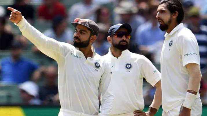 Virat Kohli, Mohammed Shami and Ishant Sharma