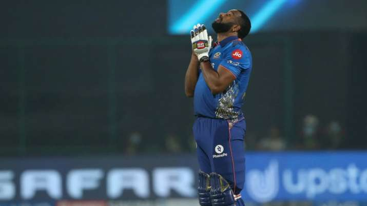 The West Indian all-rounder scored an unbeaten 87 off just 34 deliveries as MI chased a mammoth 219-