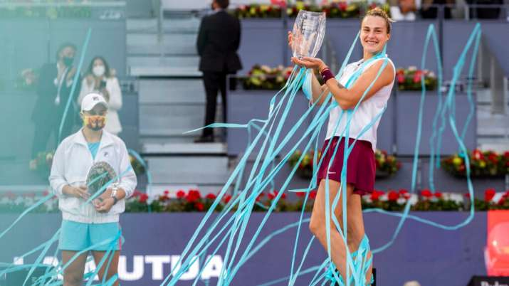 Sabalenka defeated top-ranked Ash Barty 6-0, 3-6, 6-4 for her 10th WTA title — and first on clay.
