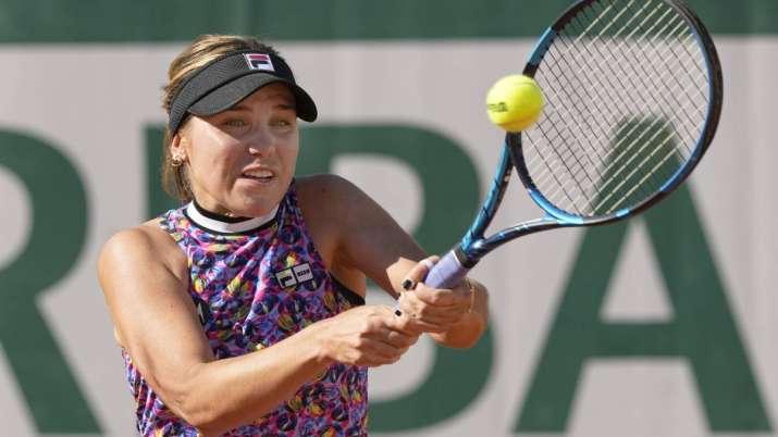 United States's Sofia Kenin plays a return to Ukraine's