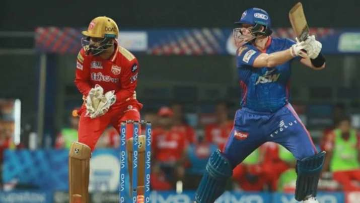 Steve Smith in action during an IPL 2021 game for Delhi