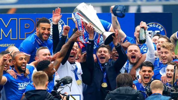 Steven Gerrard's Rangers finish Scottish Premiership undefeated with 102 points
