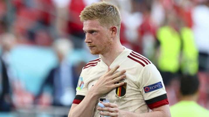 Belgium's Kevin De Bruyne celebrates his side's 2-1 win