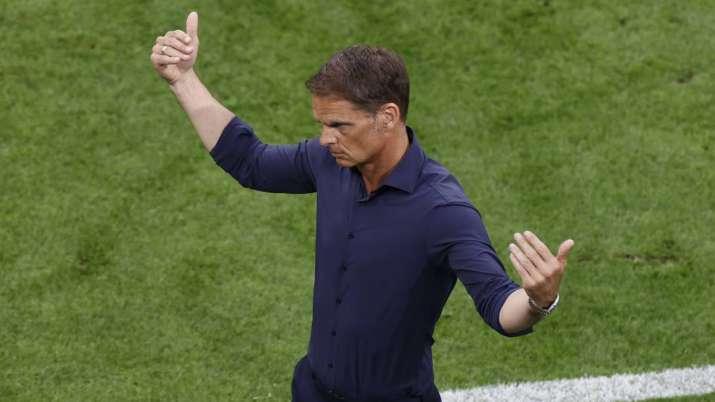 Netherlands coach Frank de Boer reacts during the Euro 2020
