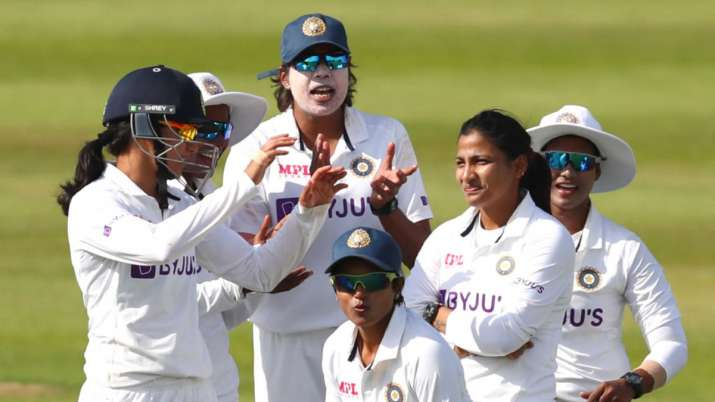 ENG W vs IND W | Indian bowlers rally after Heather Knight's 95 on Day 1